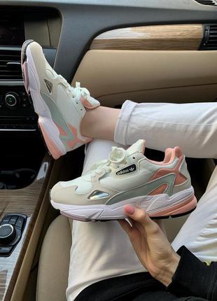Женские шикарные кроссовки adidas falcon / адидас весна лето