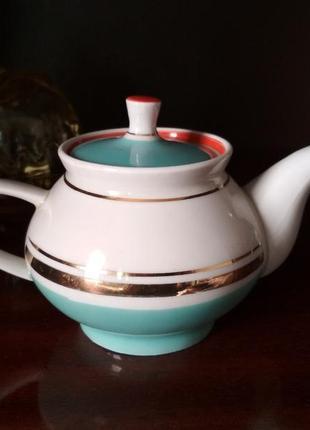 Фарфоровый чайник заварник ссср