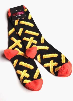 Стильные, актуальные, трендовые высокие женски носки hot sox, кортошечка фри 🍟 36-41
