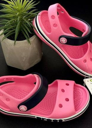 Крокс  сандали баябенд crocs bayaband sandal pink lemonade