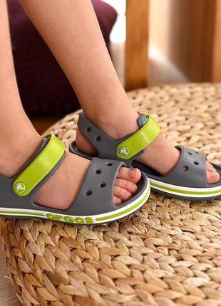 Крокс сандали crocs bayaband sandal charcoal