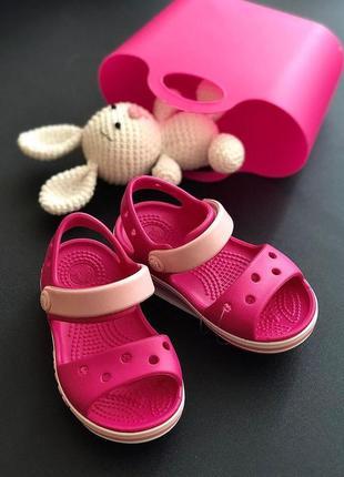 Крокс сандали crocs bayaband sandal candy pink
