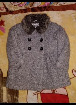 Демисезонное пальто, пальтишко на девочку 18-24 мес.