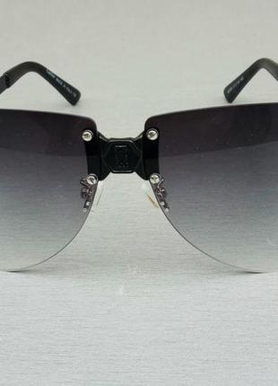 Cartier очки женские солнцезащитные черные с градиентом