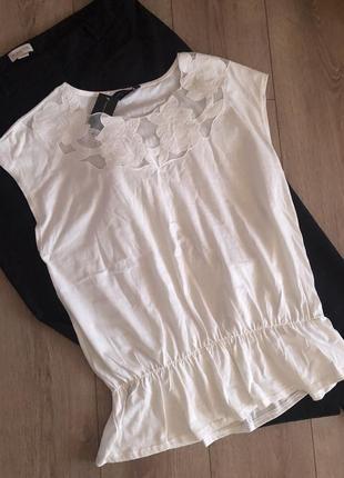 Красивая котоновая футболка батал новая цена до 30.03