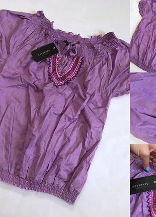 Блузка рубашка натуральная вышита с биркой