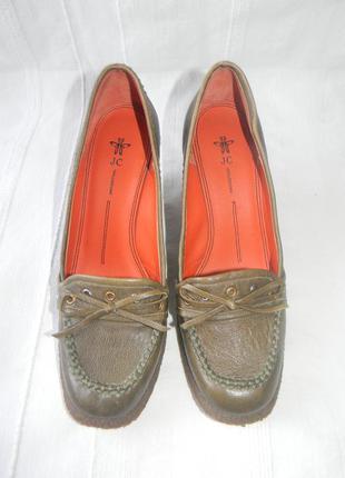 Женские кожаные туфли jc collezione р.36-37 дл.ст 23,5см