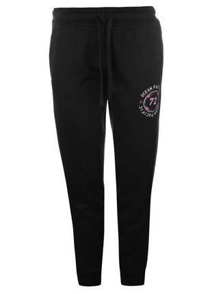 Спортивные штаны женские на флисе ocean pacific, оригинал, черные, s/10/44,  l/14/48, m/12/46,xs/8/4