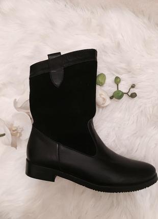Распродажа склада, кожаные ботинки - 60%2 фото