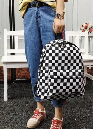 🔥🔥🔥рюкзак для школы в шахматку, рюкзак в клеточку
