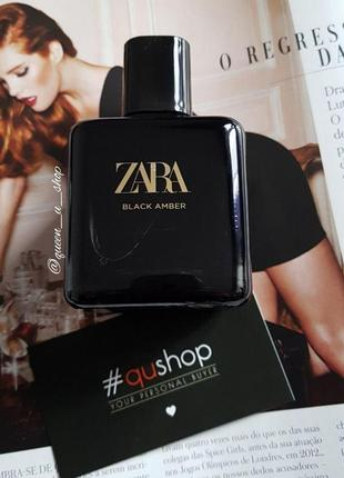 Zara black amber 100мл! магическое притяжение! густой, стойкий аромат! оригинал, испания!