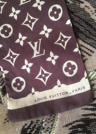 Винтажный монограммный шёлковый шарф louis vuitton 60-х
