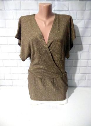 Золотистая блуза / футболка  made in britain  / арт.м01
