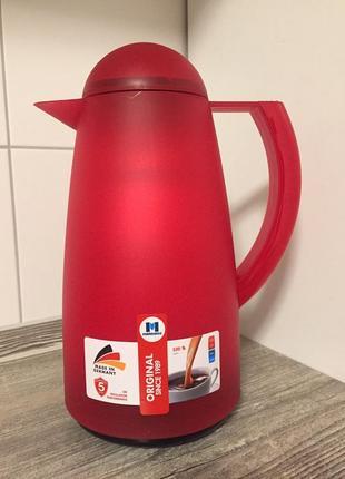 Термос 1 литер для чая,кофе и горячих напитков,прозрачный германия