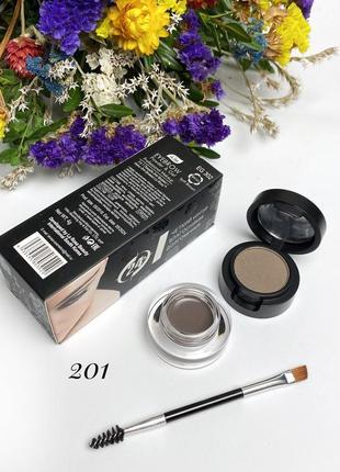 Помадка для бровей+тени+профессиональная кисть la rosa color my brows 201 к.1134
