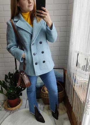 Шикарный двубортный теплый пиджак m&co