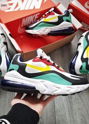 Nike air max 270 react white мужские кроссовки найк риект