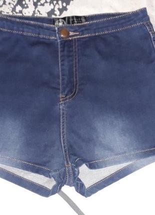 Джинсовые женские шорты с высокой талией new look, р.10
