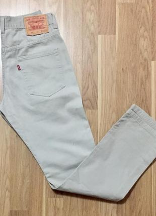 Светлые классическиемужские джинсы levis