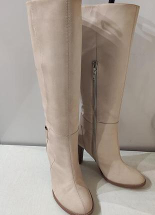 Emilio lucax бежевые кожаные демисезонные сапоги