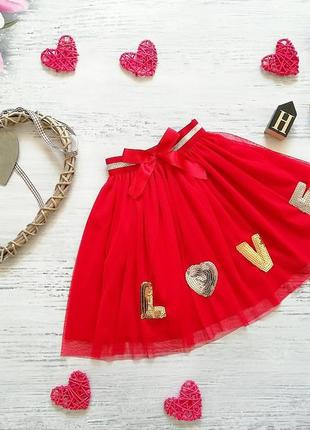 Фатиновая юбка love