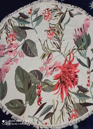 Пляжное полотенце, парео,  пляжный коврик-покрывало, 8 расцветок