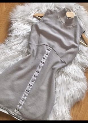 Платье женское деловое офистное серое