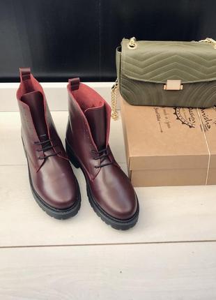 36-40p испанские ботинки бордо