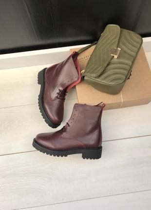 36-40p испанские ботинки бордо2 фото