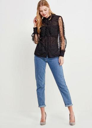 Блуза чёрная прозрачная