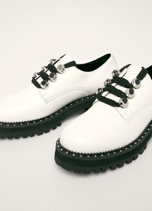Liu jo кожаные туфли броги оксфорды