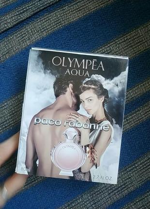 Paco rabanne olympea aqua. 80 ml. пако рабан. подарок, духи, туалетная вода, парфюм