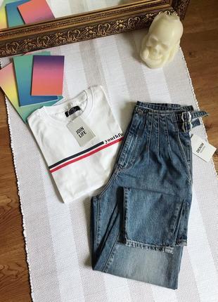 Джинси мом bershka джинсы mom 36