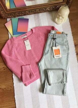 Джинси мом джинсы mom pull&bear