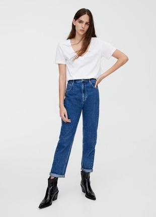 Джинси мом на резинці джинсы мом 36