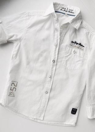 Рубашка белая мальчику palomino c&a р 104