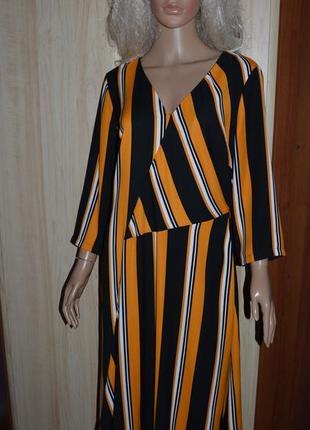 Стильное ассиметричное платье george 14 размер
