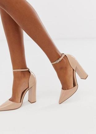 Лаковые туфли на каблуке asos, размер 39