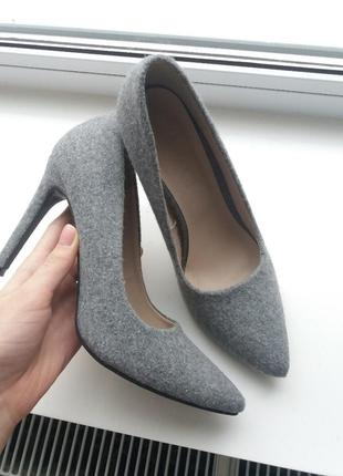 Лодочки из войлока фетра туфли esmara