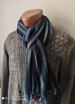 Стильный мужской шарф весна-лето вискоза премиум качество