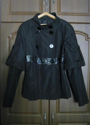 Черный плащ / тренч / пальто