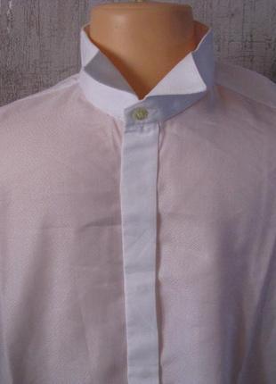 Фрачная белая рубашка 52-54 размер ворот 43