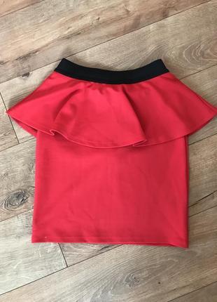 Червона облягаюча спідниця / юбка