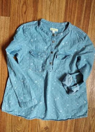 Отличная джинсовая рубашка блуза на 7-8 лет