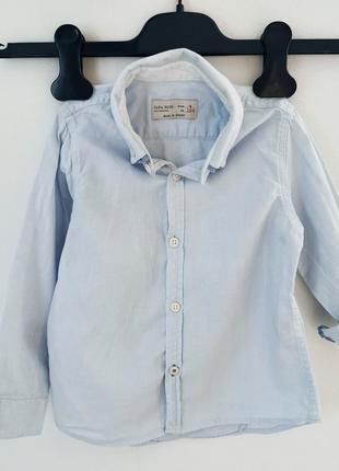 Рубашка мальчику zara boys на 3-4года 104см