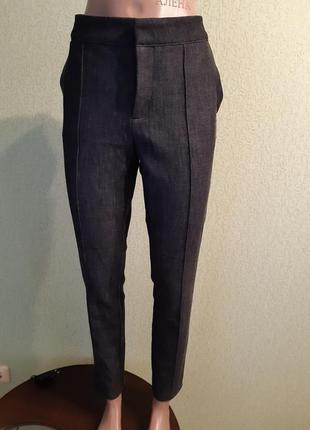Брюки штаны с передней строчкой