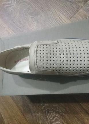 Туфли кожаные летние