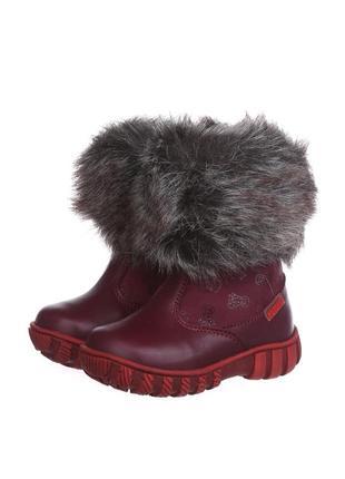 Новые зимние кожаные сапоги ботинки котофей на меху с меховой отделкой