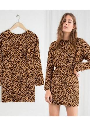 Платье в мелкий принт,платье в леопардовый принт