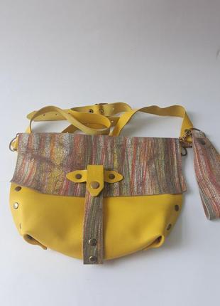 Мегастильная кожаная сумка-клатч с двумя видами ручек